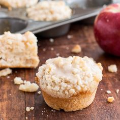 Apple Streusel Muffins with Apple Pie Spice Glaze on MyRecipeMagic.com