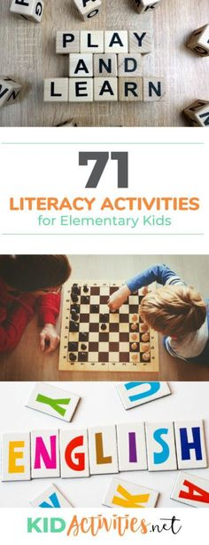 A collection of fun literacy activities and games for preschool kids. These great activity ideas will help promote literacy while having fun. #kidactivities #kidgames #activitiesforkids #funforkids #ideasforkids