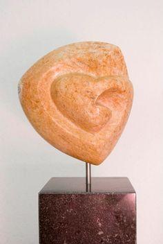 Beeldhouwen, beeld, abstract, figuratief, hart, liefde, Marieke Heesakkers