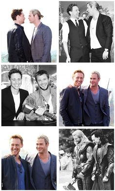 Tom Hiddleston and Chris Hemsworth <--- Tom is way sexier, sorry he just is ;)