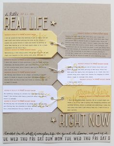 Real Life Right Now at Ali Edwards using the Get Real Story Stamp™ set