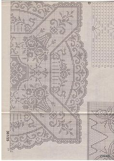 asuman there isn't enough time in this world to crochet all the pretty things… Crochet Tablecloth Pattern, Graph Crochet, Crochet Coaster Pattern, Filet Crochet Charts, Knit Crochet, Cross Stitch Pillow, Cross Stitch Embroidery, Lace Doilies, Crochet Doilies