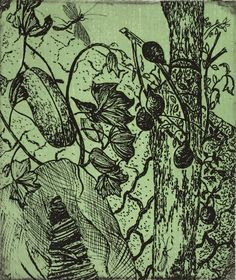 Original solar etching fine art print 'Living Things' limited edition, plants, botanical, Indian street scene, vegetables by MadeInCalcutta on Etsy