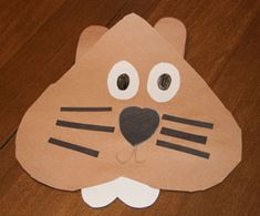 paper groundhog craft
