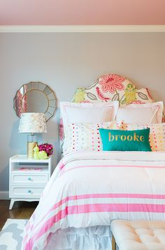 Decor inspiration for a girl's room #decorating #interiordesign - what would you change about this look?