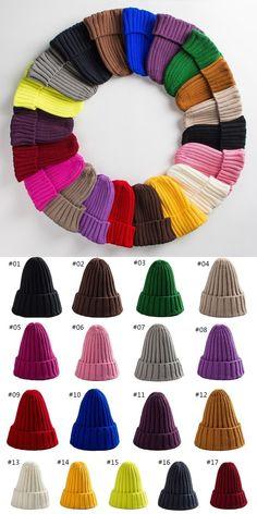 1526b241d38 Hat female unisex cotton blends solid warm soft hip hop knitted hats men winter  caps women s