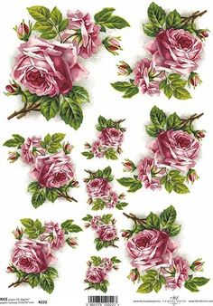 Now available on our store: Decoupage Rice Pa... Check it out here http://modelsandcraftshop.com/products/decoupage-rice-paper-roses-a4-size-r222?utm_campaign=social_autopilot&utm_source=pin&utm_medium=pin
