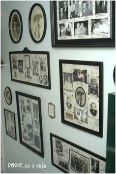 denise...on a whim: Fabulous Farmhouse Tour: Family Gallery Wall