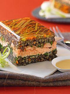 Terrine de lentilles vertes au saumon - Gourmand : la recette de cuisine, facile et rapide, par Vie Pratique