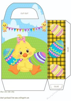 Easter rabbit pinterest rabbit easter and box easter chick gift bag 2 negle Image collections