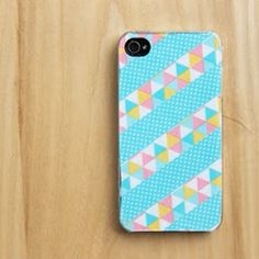 iPhone Case Decorating with wash tape, fabric and more!