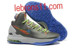 new styles 2fe84 ff42a Kevin Durant 5 Splatter Sport Grey Bright Crimson Electric Green Shoes