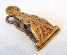FREE POST  Antique Victorian Brass Paper Clip by AToasttothePast