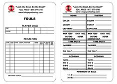 1 Stop Sports Reusable Football Game Card 1 Stop Sports With Regard To Soccer Referee Game Card Template Pro Soccer Referee Football Referee Football Games