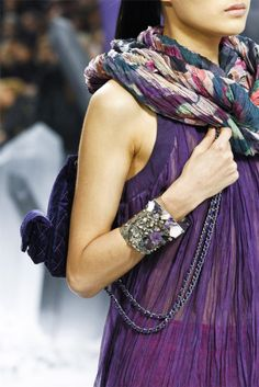Channel Fall 2012. Love all the purple gemstones.