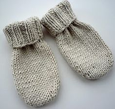 Use this free knitting pattern to make easy Little Baby Mittens. This is a great project for using up scrap yarn..