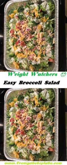Skinny Recipes, Ww Recipes, Unique Recipes, Low Carb Recipes, Salad Recipes, Healthy Eating Recipes, Healthy Salads, Healthy Foods, Easy Broccoli Salad