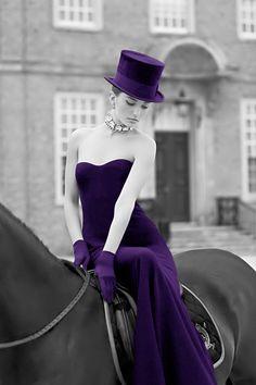Classy purple lady