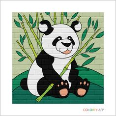 Panda drawing 🐼 By app: Colorfy