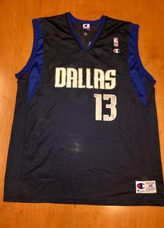 Vintage 1990s Steve Nash Dallas Mavericks Champion Jersey Size 48 hat shirt  mavs rolando blackman cedric ceballos mark aguirre nba finals ae2d31e98