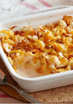 Cheesy Cauliflower au Gratin – In this Healthy Living au gratin recipe, cauliflower gets all cheesy and crispy-crunchy to prove it can be as delicious as it is easy to make. This casserole side dish will become your family-favorite!
