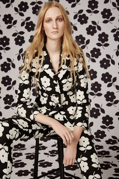 This is a beautiful image. I love that it is in #BlackAndWhite. I love the use of #patterns too! The photo is from the Orla Kiely Pre-Fall 2016 Fashion Show.