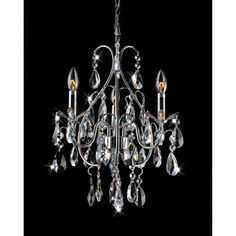 @Overstock - Give your home a new look with this attractive chandelier. This elegant lighting fixture is perfect for any home decor.   http://www.overstock.com/Home-Garden/Serenity-3-light-Chrome-and-Crystal-Chandelier/7538672/product.html?CID=214117 $132.29