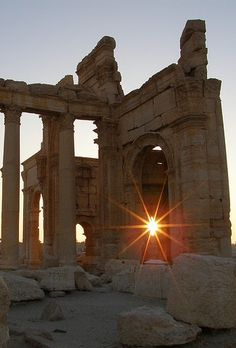 Palmyra Syria, reminds me of Atlantis - did you know Atlantis is filmed in Morocco?