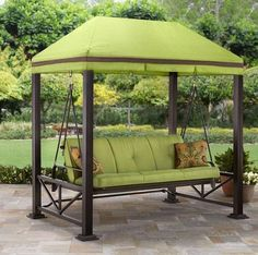 Outdoor Gazebo Patio Canopy Furniture Swing Bench Seat Chair Deck Hammock  Summer