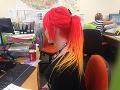 Red And Orange Fire Hair