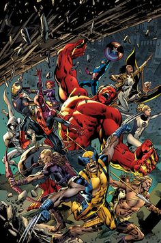 Age of Ultron Cover, por Bryan Hitch