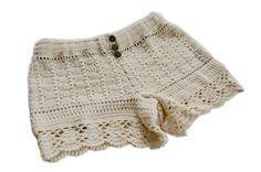 Crochet shorts without pattern