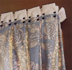 I would LOVE to make these draperies, tiny cording at top, contrast banding, inverted pleats, nail head trim. Windows & Walls, September 2008