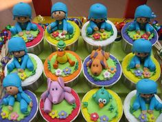 Ahh nevermind forget the princess theme kayleen loves this show -Pocoyo cupcake