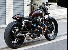 Harley Davidson Sportster 1200 2002 By Tramp Cycle Sportster Cafe Racer, Harley Davidson Sportster 1200, Buell Cafe Racer, Hd Sportster, Custom Sportster, Harley Bobber, Custom Bobber, Custom Harleys, Harley Davidson Motorcycles