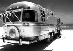 Beautiful and rare Airstream motor home.