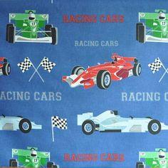 Racing Cars - Denim - from Kids Fabrics Online Shop