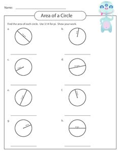 7th grade area of a circle worksheet | 7th Grade Standard Met ...