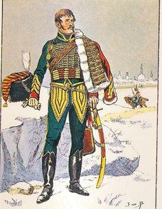 French, Imperial Guard, Chasseurs a Cheval, Capitaine de l'Etat Major du Regiment on campaign,1812