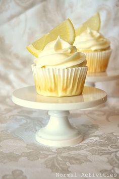 Limoncello cupcakes (lemon cupcake base + lemon curd filling + lemon buttercream).  Normal Activities