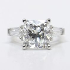 Classic Cushion Cut Three Stone Baguette Ring | Other Recently Purchased Rings
