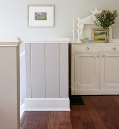 Paint your paneling in your chosen trim white for a classic bright coastal look, or draw attention to it by selecting a sophisticated neutral shade, and then highlight the chair rail and baseboard with glossy trim paint for a study in contrast.Paint pick me up | Sarah Richardson Design