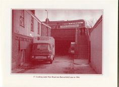 Alleyway from The Green, under New Road to Barrowfield Lane 1964