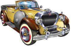 """Photo from album """"Машины"""" on Yandex. Vintage Cars, Antique Cars, Arte Lowrider, Penny Skateboard, Chevy, American Classic Cars, Truck Art, Car Advertising, Car Drawings"""