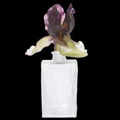 Daum Cattleya Flacon de parfum, Incolore/Turquoise