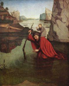Konrad Witz.  St Christopher, ca.1435