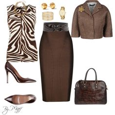 A fashion look from April 2014 featuring MICHAEL Michael Kors tops, Dolce&Gabbana blazers and Thomas Wylde skirts. Browse and shop related looks.