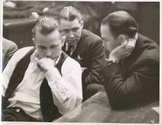 John Dillinger in Court, Crown Point, Indiana by  Unknown Artist