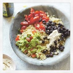 """""""What's everyone tried from the book yet? When I get home tonight I'm making the quinoa Mexican bowl with guacamole, salsa, black beans and cashew cream - very excited ❤️ Can't wait to hear which recipes you're loving! Have a beautiful day everyone! P.S the book is half price in @waterstones all week, so it's just £10 for 100 new, delicious recipes """" Photo taken by @deliciouslyella on Instagram, pinned via the InstaPin iOS App! http://www.instapinapp.com (01/30/2015)"""