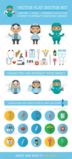 Realistic Graphic DOWNLOAD (.ai, .psd) :: http://vector-graphic.de/pinterest-itmid-1008137723i.html ... Vector Flat Doctor Kit ...  bandages, blood, candy, care, character, crutches, doctor, flat, funny, healt, heart, icon, mascot, medic, medicine, microscope, nurse, pills, simple, stethoscope, sting, surgeon, vector  ... Realistic Photo Graphic Print Obejct Business Web Elements Illustration Design Templates ... DOWNLOAD :: http://vector-graphic.de/pinterest-itmid-1008137723i.html